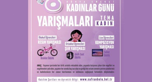 8 Mart Dünya Kadınlar Günü Temasıyla Öğrencilere Yarışma