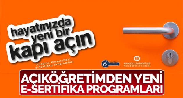 Açıköğretimden yeni e-Sertifika programları