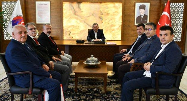 Gazi Şehit Dul ve Yetimler Derneği Genel Başkanı Işık'tan Başkan Vergili´ye Ziyaret
