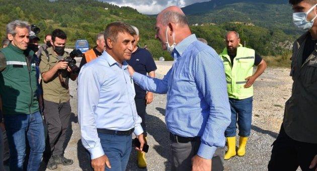 İçişleri Bakanı Soylu Şenpazar İlçesini Ziyaret Etti.