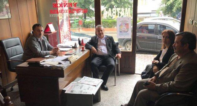 Karaoğlu'ndan Yenice Gazetesi'ne ziyaret