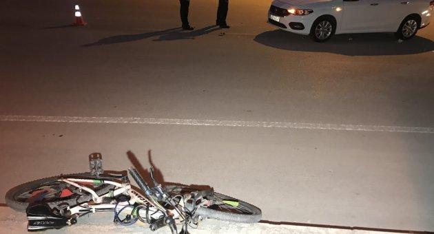 Otomobilin çarptığı bisikletli çocuk yaralandı