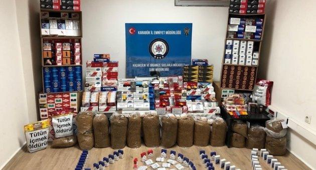 Safranbolu'da kaçak tütün satışı yapan iş yerlerine operasyon