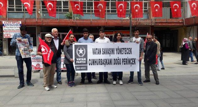 """Vatan Partisi; """"Recep Tayyip Erdoğan,  Türkiye'nin Vatan Savaşını yönetemiyor!"""""""